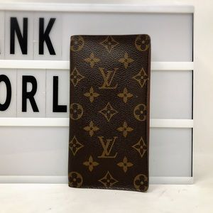 Louis Vuitton Checkbook Monogram Long wallet